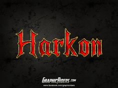 GraphicRiders | Fantasy style – Harkon (free photoshop layer style, text effect) #graphicriders