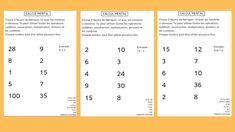 Le calcul à l'envers : 7 activités de calcul mental sous forme de casse-tête Multiplication, Maths, Mental Calculation, Learning, Reading, Brain Teasers, Fit, Professor