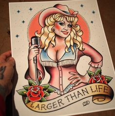 Hey, I found this really awesome Etsy listing at https://www.etsy.com/listing/289749655/dolly-parton-tattoo-flash-art-print