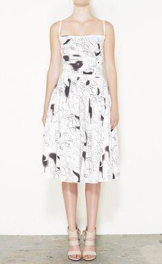 Prada Sport White And Brown Dress   VAUNTE