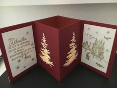 Winter tree crafts tea lights ideas for 2019 Christmas Cards 2018, Homemade Christmas Cards, Xmas Cards, Homemade Cards, Handmade Christmas, Holiday Cards, Pop Up Cards, Christmas Diy, Christmas Vacation