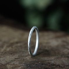 14k gold rustic carved ring