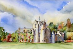 Jonathan Wheeler, watercolour artist based in Findhorn Scotland, specialising in Scottish castles and scenes including Edinburgh. Limited edition and signed edition prints for sale - commissions undertaken. Scottish Castles, Watercolor Print, Prints For Sale, Artist, Watercolours, Painting, Image, Watercolor Paintings, Painting Art