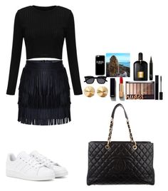 """Untitled #365"" by mariapangal on Polyvore featuring adidas, Chanel, Eddie Borgo, Gucci, Tom Ford, Le Specs and Casetify"