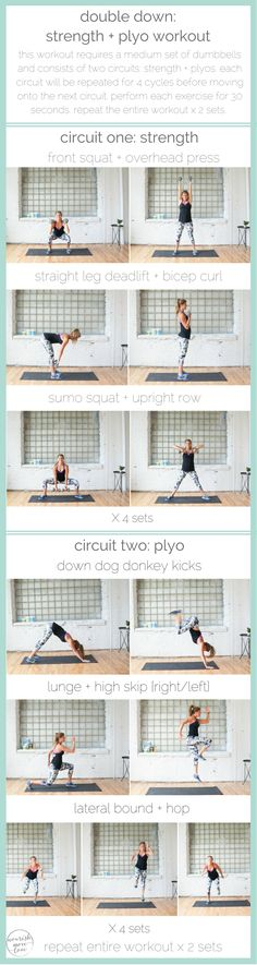 double down: strength + plyo workout | www.nourishmovelove.com