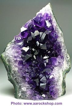 Amethyst. Amethyst - it helps to bring calmness and clarity. Integrates and balances all systems of the body. Useful for meditation as it calms the mind and emotions while keeping awareness sharp and focused. Intuition is also enhanced.