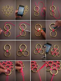 DIY: Náhrdelník z krúžkov
