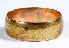 Lot 173: 14k Gold Band Ring; Plain band; marked 14k inside band