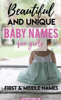 79 Feminine Baby Girl First and Middle Names for 2020 - Just Simply Mom Baby Girl Names, Boy Names, Baby Boy, Mom Baby, Baby Birth, Xavier Rudd, Pretty Girls Names, Middle Names For Girls, Unusual Baby Names