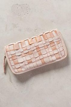 Cadenza Woven Wallet by Caterina Lucchi Rose One Size Clutches