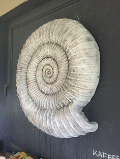 Wandmonumet fossiler Art gestaltet von #JensUweScholz #FossilArt www.KunstschuleScholz.de