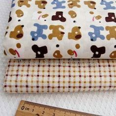Cotton Fabric dogs animal square fat quarter by PreciousSerenity, £2.99