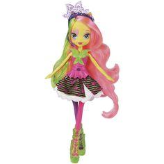 My Little Pony Equestria Girls Multicolor Neon Rainbow Rocks Fluttershy Doll