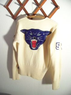 Go Team vintage Letterman Sweater