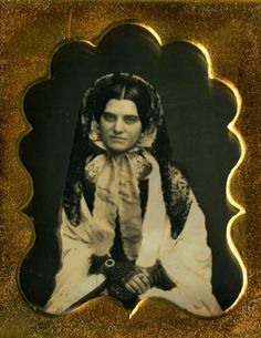 Exotic-Daguerreotype-of-an-Extravagantly-Dressed-Foxy-Lady-Fine-Scalloped-Mat