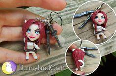 Katarina inspired keychain by BunnyLandCraft