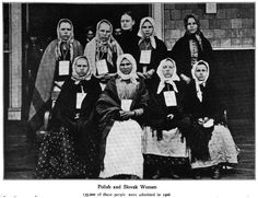 race/history/evolution notes: National Geographic on immigration to the US in 1906. Polish and Slavic Women.