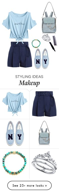 """Sem título #1232"" by army-forever on Polyvore featuring Sea, New York, Joshua's, Unwritten and Chloé"