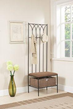 Kings Brand Hallway Storage Bench With Coat Rack & Basket by Kings Brand Furniture, http://www.amazon.com/dp/B00E0QMVPW/ref=cm_sw_r_pi_dp_sfmhsb04SH551