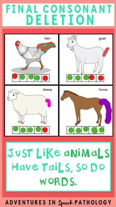 This is a simple, yet powerful concept that teaches our early learners to put the 'tail' or the final sound on their words. By using animals and having 5 different interactive activities (drawing, puzzles, flip books, matching, game board), you have multiple opportunities to explore this concept.