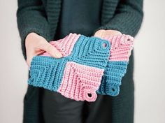 Shop Etsy, the place to express your creativity through the buying and selling of handmade and vintage goods. Ribbed Crochet, Form Crochet, Crochet Patterns, Crochet Kits, Crochet Potholders, C2c, Diy Tutorial, Tutorial Crochet, Fingerless Gloves