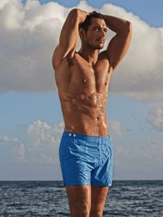 Tough day? These pictures of David Gandy modelling his Marks and Spencer swimwear collection will cheer you up - now