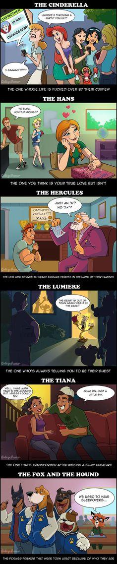 Disney Characters You'll Meet in High School | funny comic / cartoon, humor