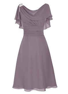 Dresstells® Short Prom Dress Cowl Bridesmaid Dress Chiffon Mother of Bride Dress Grey Size 2 Dresstells http://www.amazon.com/dp/B01A1ZRJ2U/ref=cm_sw_r_pi_dp_J8Y7wb0GE31WD