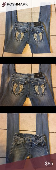 "MISS ME WHITE ANGEL WINGS RARE SKINNY JEANS SZ: 26 MISS ME WHITE STONE ANGEL WINGS DISTRESSED RARE SKINNY JEANS SZ: 26.  EUC!!   Measures:  W: 14"". Hip: 15.5"". Inseam:  31"".   PLEASE BE SURE TO LOOK AT ALL PICTURES AS THEY ARE PART OF THE LISTING DESCRIPTION!!  Thanks so much for looking at my closet!!  ✨OPEN TO ALL ""REASONABLE"" OFFERS!!✨ Miss Me Jeans Skinny"