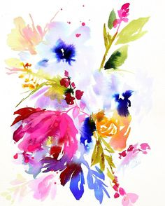 Loud floral piece from the summer. Only a few prints left on Etsy ($39.50)More videos coming this weekend, I promise!
