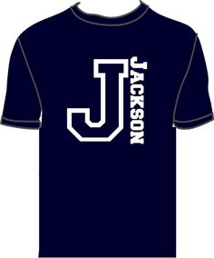 Items similar to Boys Personalized Shirt with Initial and Name on Etsy - Vinyl Shirt - Ideas of Vinyl Shirt - Boys Personalized Shirt with Initial and by