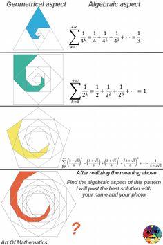 Sums of Fractions Geometry Formulas, Mathematics Geometry, Physics Formulas, Physics And Mathematics, Sacred Geometry, Algebraic Geometry, Pseudo Science, Math Vocabulary, Math Art