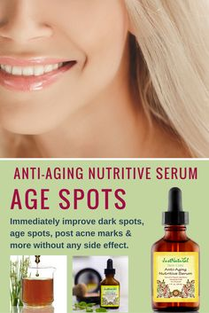 Anti-Aging Nutritive Serum / It is ideal for a variety of skin concerns including dark spots, age spots, post acne marks to improve the look and feel of your complexion. Lift Firming Vitamins & Essential Ols Serum Many serums on the market are made mostly of water with a very tiny amount of active ingredients. This serum has no water, silicone, alcohol, fragrance, mineral oil or any other filler.