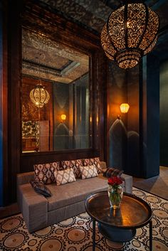 Beautiful new hotel in Marrakech full of our fabrics and wallpapers !  Interior Design by Marilin Spataro !