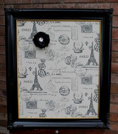 Shabby Chic Ornate Magnetic Black Frame Black by 2rustynails, $75.00