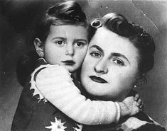 Thea Borzuk Slawner poses with her mother on the occasion of her second birthday party, which was celebrated behind the walls of the Warsaw Ghetto. Despite living in appalling conditions, Warsaw's Jews spared no effort to retain their humanity. Religious and family celebrations became symbols of Jewish resistance. Thea and her mother escaped the ghetto just prior to the 1943 uprising. They survived the war, living among gentiles under assumed names.