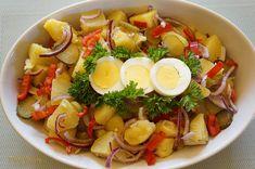 Salata de cartofi cu castraveti murati, ceapa rosie si ardei gras | Retete culinare cu Dana Valery Cobb Salad, Recipes, Food, Salads, Eten, Recipies, Ripped Recipes, Recipe, Meals