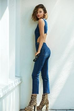 It's no surprise that Miranda Kerr looks good in everything, especially jeans. From high-waist skinnies to fitted straight-legs, the supermodel can make just about any pair a runway-worthy piece, thanks to her enviable frame and impeccable sense of style. Now, Kerr is translating her true blue obsession into a new collaboration with Los Angeles-based denim brand Mother.