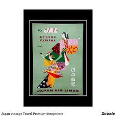 Japan vintage Travel Print