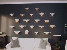 Fulham Pottery vase  'wallscape' by collectionsof, via Flickr
