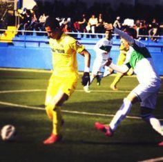 Miguel Parrales con la camiseta del Villarreal