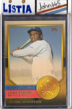 JACKIE ROBINSON - 2012 TOPPS GOLDEN GREATS #GG-65 - MINT - BROOKLYN DODGERS - FREE S/H