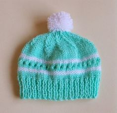 Minty Baby Knit Hat