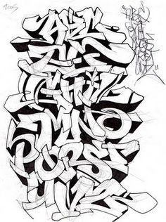 graffiti alphabet mrpoem