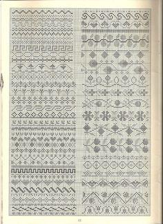 25 Ideas For Knitting Machine Diy Watches Blackwork Cross Stitch, Cross Stitch Sampler Patterns, Cross Stitch Borders, Cross Stitch Samplers, Cross Stitch Charts, Cross Stitching, Cross Stitch Embroidery, Embroidery Patterns, Fair Isle Knitting Patterns