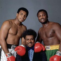 Muhammad Ali, Don King, Joe Frazier