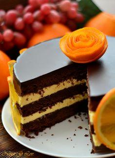 With love, taste and beauty... : Шоколадно-апельсиновый торт (Chocolate-orange cake)