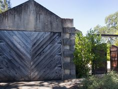 barn wood chevron pattern garage door