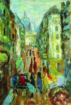 Pierre Bonnard (1867-1947) Paris, rue Tholozé, vers 1915