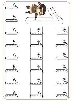 Actividades para imprimir Practica la escritura de los números 7